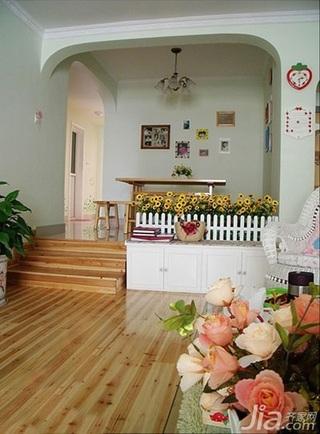 简约风格四房10-15万100平米玄关电视柜三口之家设计图
