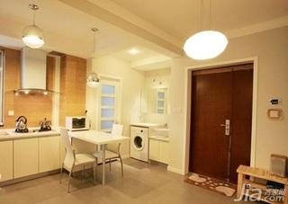 简约风格二居室简洁白色3万以下80平米客厅吧台灯具新房家装图片