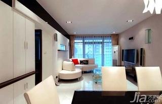 简约风格二居室10-15万100平米玄关沙发新房平面图