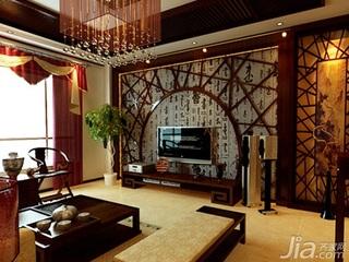 中式风格四房以上豪华型140平米以上餐厅沙发新房家装图片