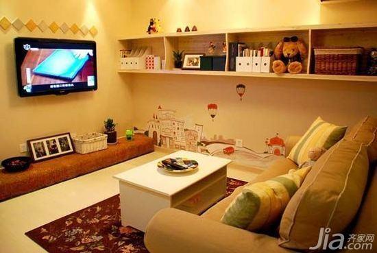 宜家风格二居室10-15万80平米客厅沙发图片