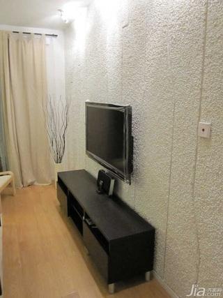 日式风格二居室10-15万70平米客厅电视柜新房家装图片