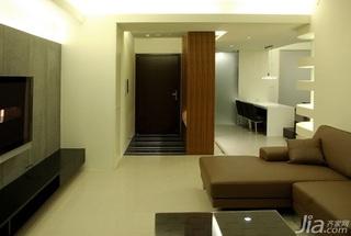 简约风格二居室15-20万90平米玄关客厅过道新房家装图