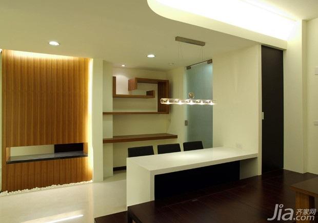 简约风格二居室15-20万90平米玄关吧台新房平面图