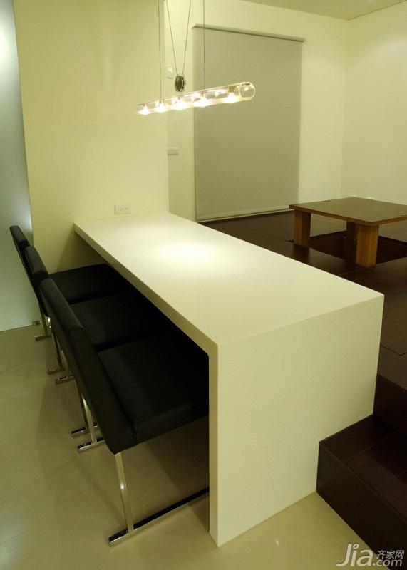 简约风格二居室15-20万90平米玄关吧台新房家装图片