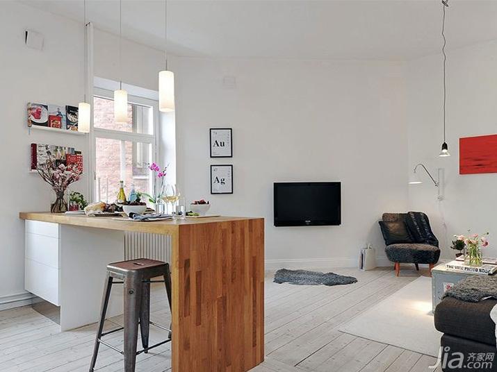 简约风格一居室5-10万60平米玄关吧台吧台椅效果图