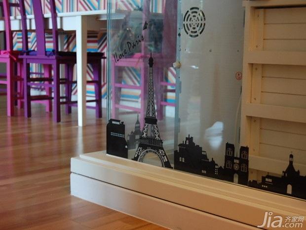 田园风格二居室10-15万80平米玄关吧台吧台椅新房设计图纸