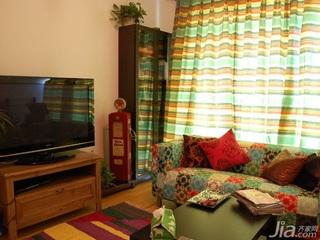 田园风格二居室10-15万80平米玄关沙发新房平面图