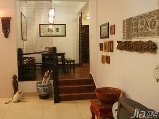 中式风格二居室15-20万110平米客厅新房家装图