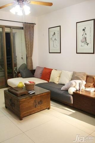 中式风格二居室15-20万110平米客厅沙发新房家装图片