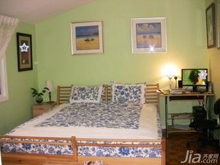中式风格二居室10-15万70平米卧室床新房家装图片