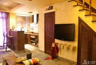 东南亚风格复式豪华型客厅吧台新房家装图片