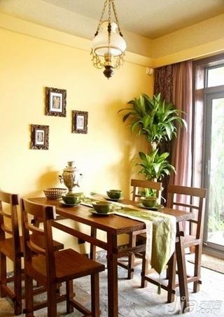 东南亚风格复式豪华型餐厅餐桌新房家装图片