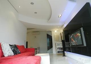 简约风格二居室富裕型90平米客厅沙发新房家装图