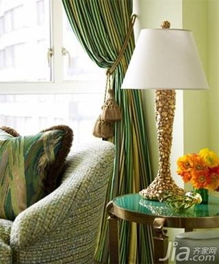 欧式风格二居室小清新绿色5-10万70平米客厅灯具效果图