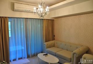 新古典风格二居室10-15万80平米玄关沙发新房平面图