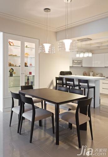 欧式风格简洁5-10万80平米餐厅餐桌图片