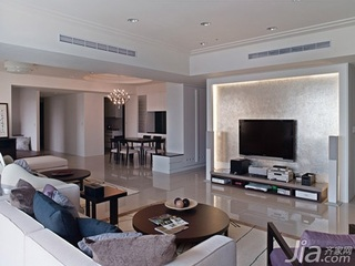 欧式风格5-10万80平米客厅电视背景墙电视柜效果图
