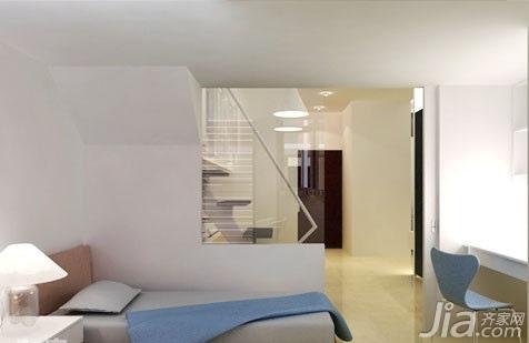 简约风格跃层5-10万70平米玄关床新房家装图