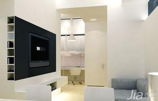 简约风格跃层5-10万70平米玄关电视背景墙新房家装图片