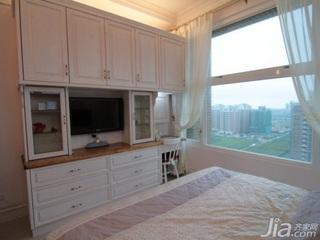 田园风格二居室10-15万70平米卧室电视柜新房平面图
