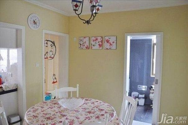田园风格一居室温馨10-15万70平米玄关餐桌新房家装图片