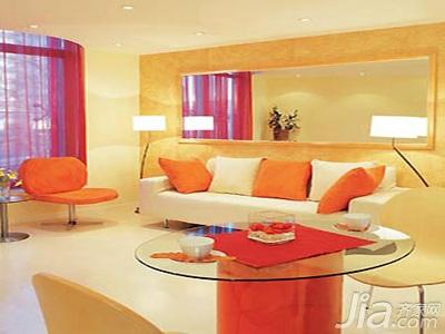 简约风格小户型3万以下40平米客厅沙发效果图