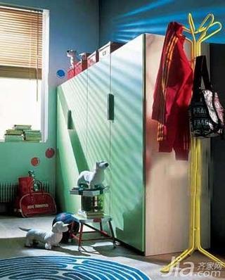 简约风格一居室3万以下50平米儿童房衣柜图片