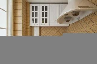 田园风格四房白色5-10万90平米厨房橱柜新房家装图