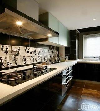 简约风格一居室10-15万50平米客厅橱柜新房家装图片