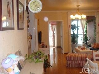 田园风格二居室3万以下70平米客厅新房家装图