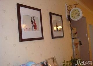田园风格二居室3万以下70平米新房家装图片