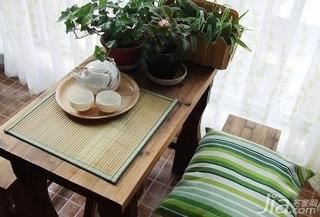 田园风格二居室10-15万80平米茶几新房家装图片