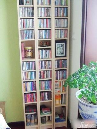 田园风格二居室10-15万80平米书架新房家装图片