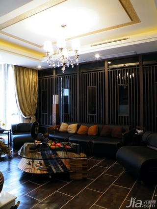 混搭风格10-15万80平米客厅沙发新房家装图片