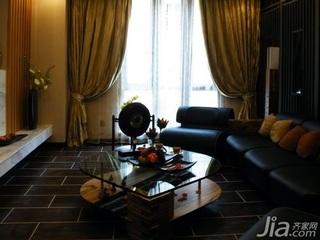 混搭风格10-15万80平米客厅沙发新房平面图
