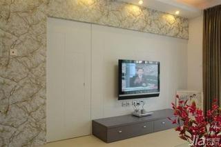 简约风格四房10-15万90平米电视柜新房家装图