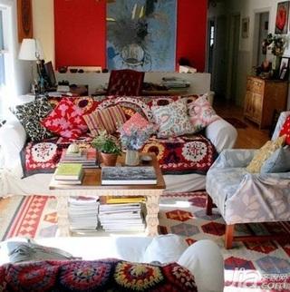 欧式风格一居室艺术5-10万50平米客厅沙发新房设计图