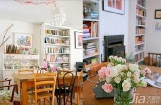 欧式风格一居室5-10万50平米餐厅餐桌新房平面图