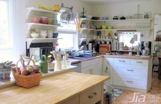 欧式风格一居室实用5-10万50平米厨房橱柜新房平面图