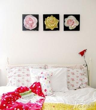欧式风格一居室舒适5-10万50平米卧室床新房家装图片