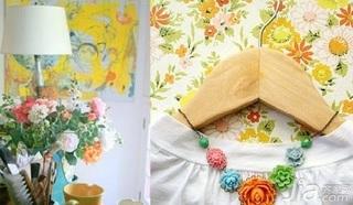 欧式风格一居室5-10万50平米壁纸新房家装图