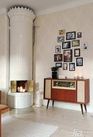 北欧风格公寓经济型40平米照片墙装修效果图