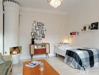 北欧风格公寓40平米卧室照片墙床图片