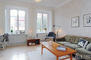 北欧风格公寓40平米客厅沙发效果图