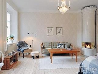 北欧风格公寓40平米客厅沙发图片
