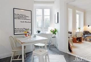 北欧风格公寓40平米餐厅餐桌图片