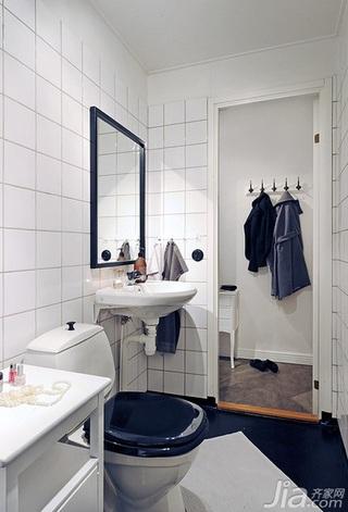 北欧风格公寓40平米卫生间设计图纸