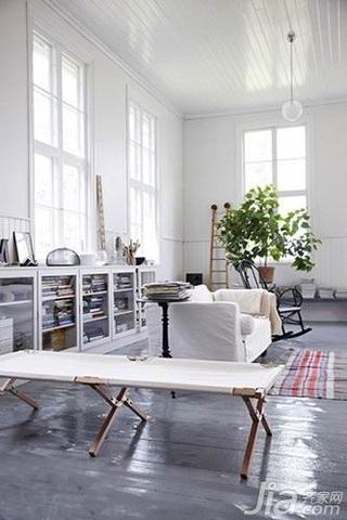 简约风格二居室5-10万70平米客厅沙发新房平面图