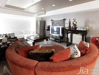 中式风格二居室10-15万80平米客厅沙发新房家装图